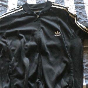 Adidas zip down black side large